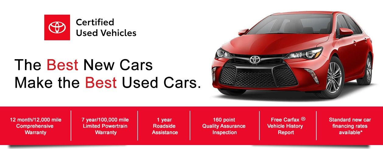 Toyota Certified Pre Owned >> Certified Pre Owned Advantages